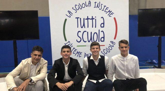 Studenti del Polo scientifico all'inaugurazione dell'anno scolastico con Mattarella