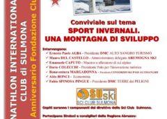 """Conviviale Panathlon Sulmona sul tema: """"Sport invernali. Una montagna di Sviluppo"""""""