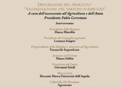 Presentazione Progetto valorizzazione tartufo d'Abruzzo