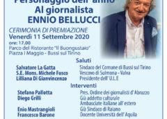 Premio nazionale ULE: personaggio dell'anno giornalista Rai Ennio Bellucci